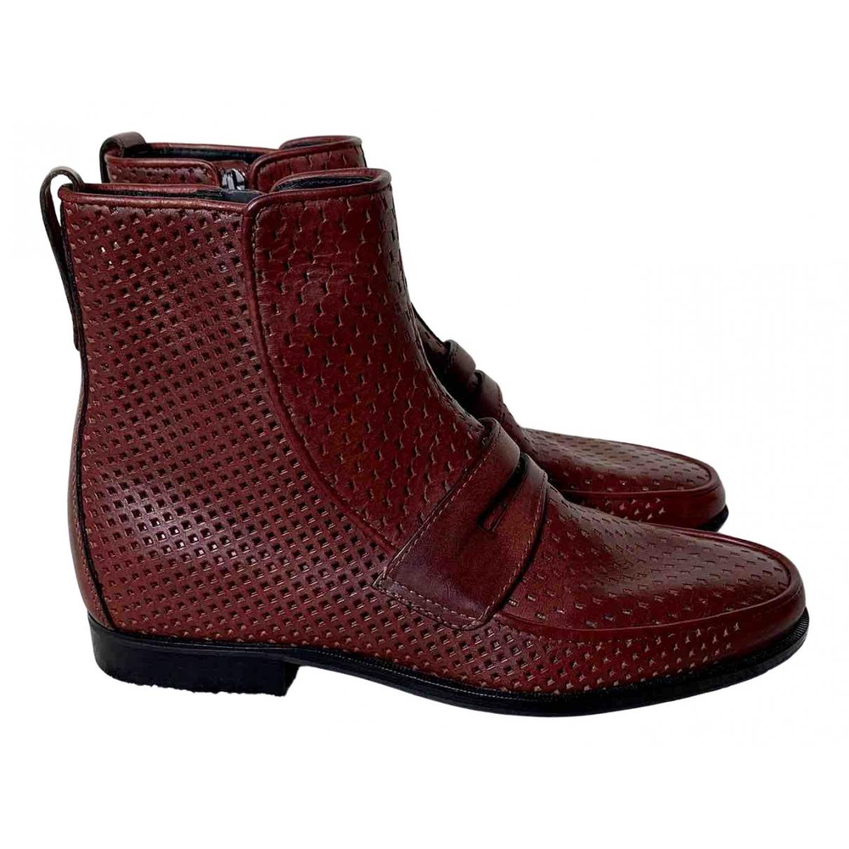 Bottega Veneta \N Burgundy Leather Boots for Men 42 IT