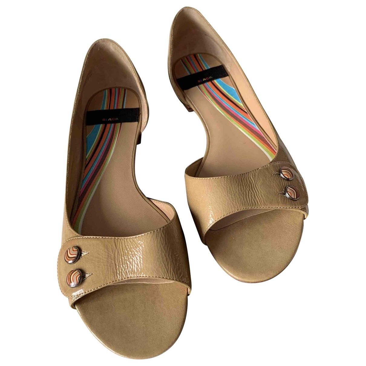 Paul Smith \N Beige Leather Sandals for Women 37 EU