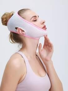 1pc Contrast Binding Facial Slimming Bandage