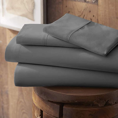 Casual Comfort Premium Ultra Soft Microfiber Wrinkle Free Sheet Set, One Size , Gray