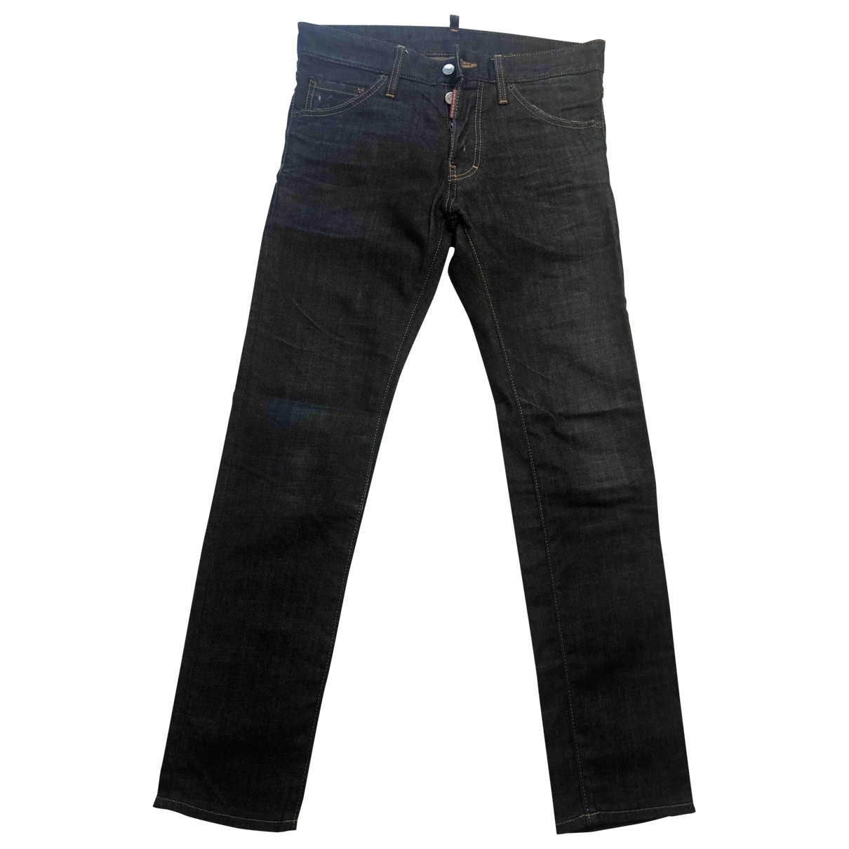 Dsquared2 \N Navy Cotton - elasthane Jeans for Men 32 US