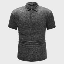 Men Marled Polo Shirt