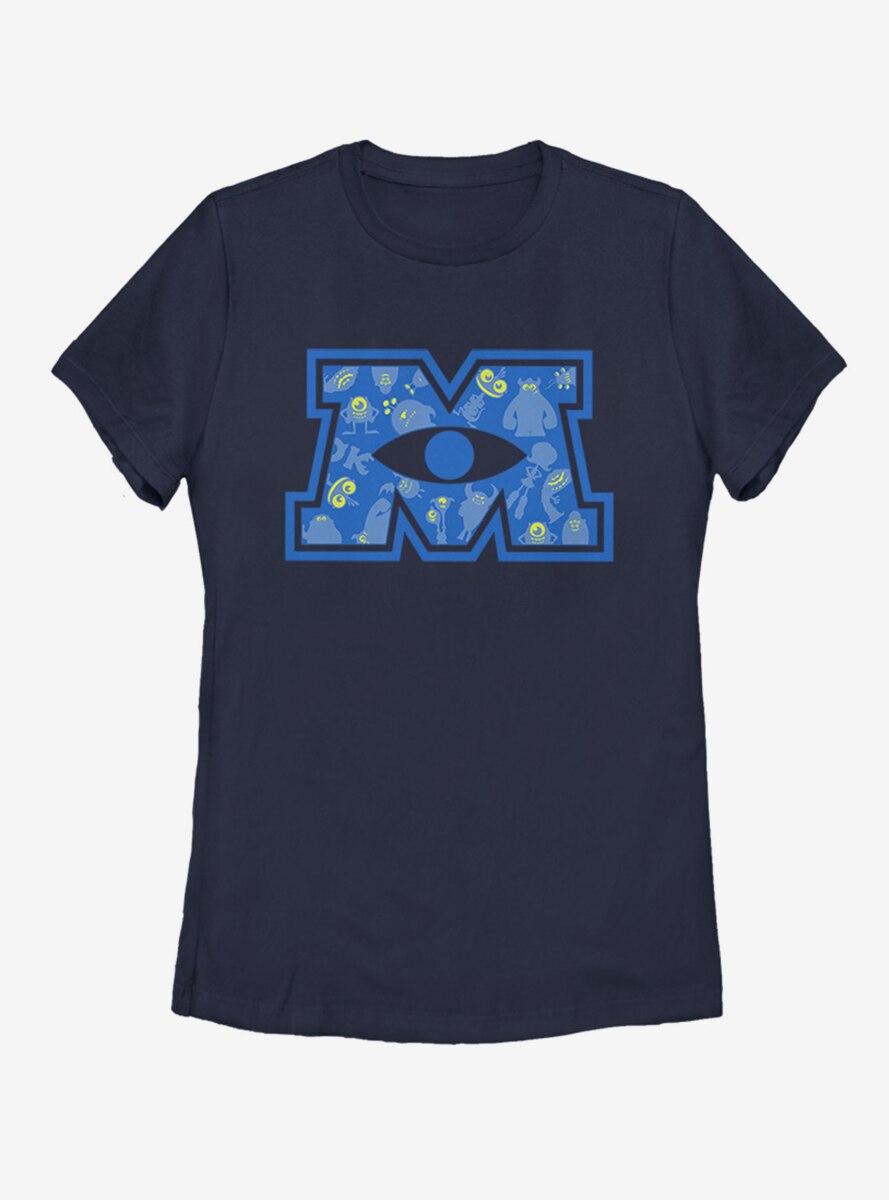 Disney Pixar Monsters Inc. Big M Womens T-Shirt