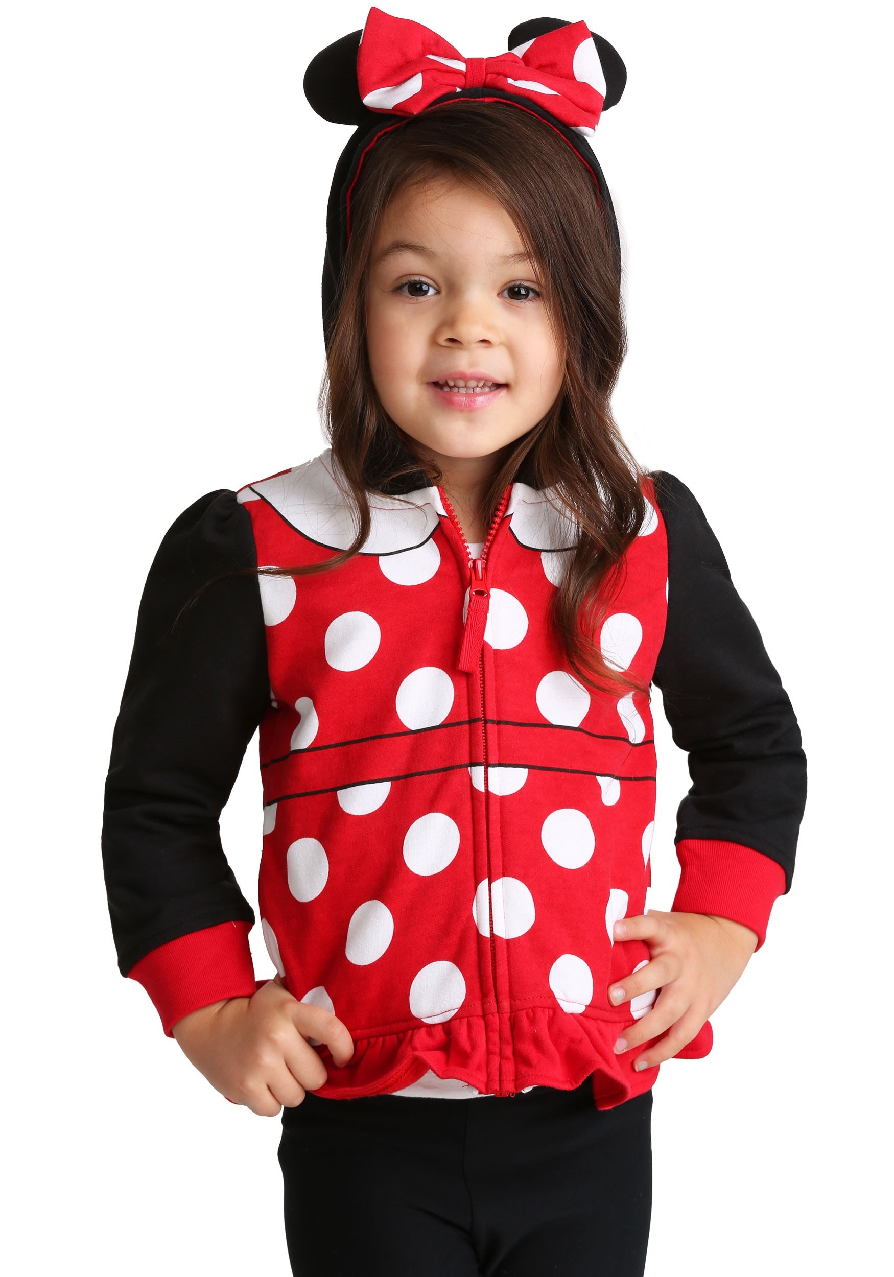 Minnie Mouse Girl's Costume Hoodie