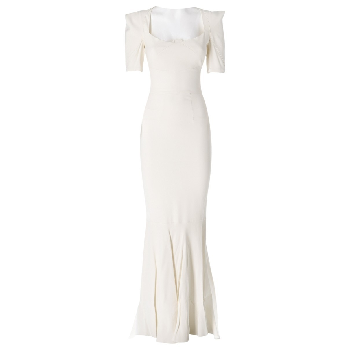 Roland Mouret \N White Silk dress for Women 38 IT