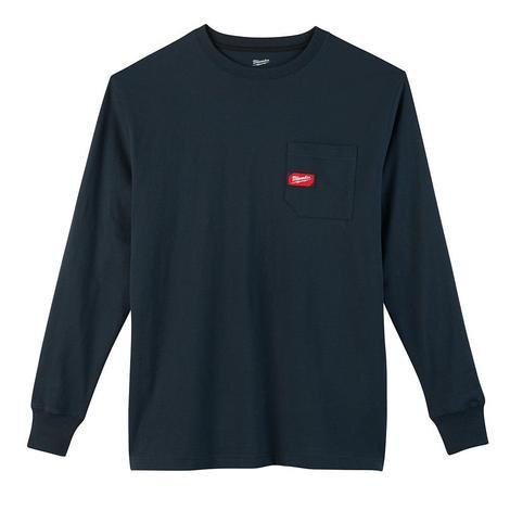 Milwaukee Heavy Duty Pocket T-Shirt - Long Sleeve - Blue L