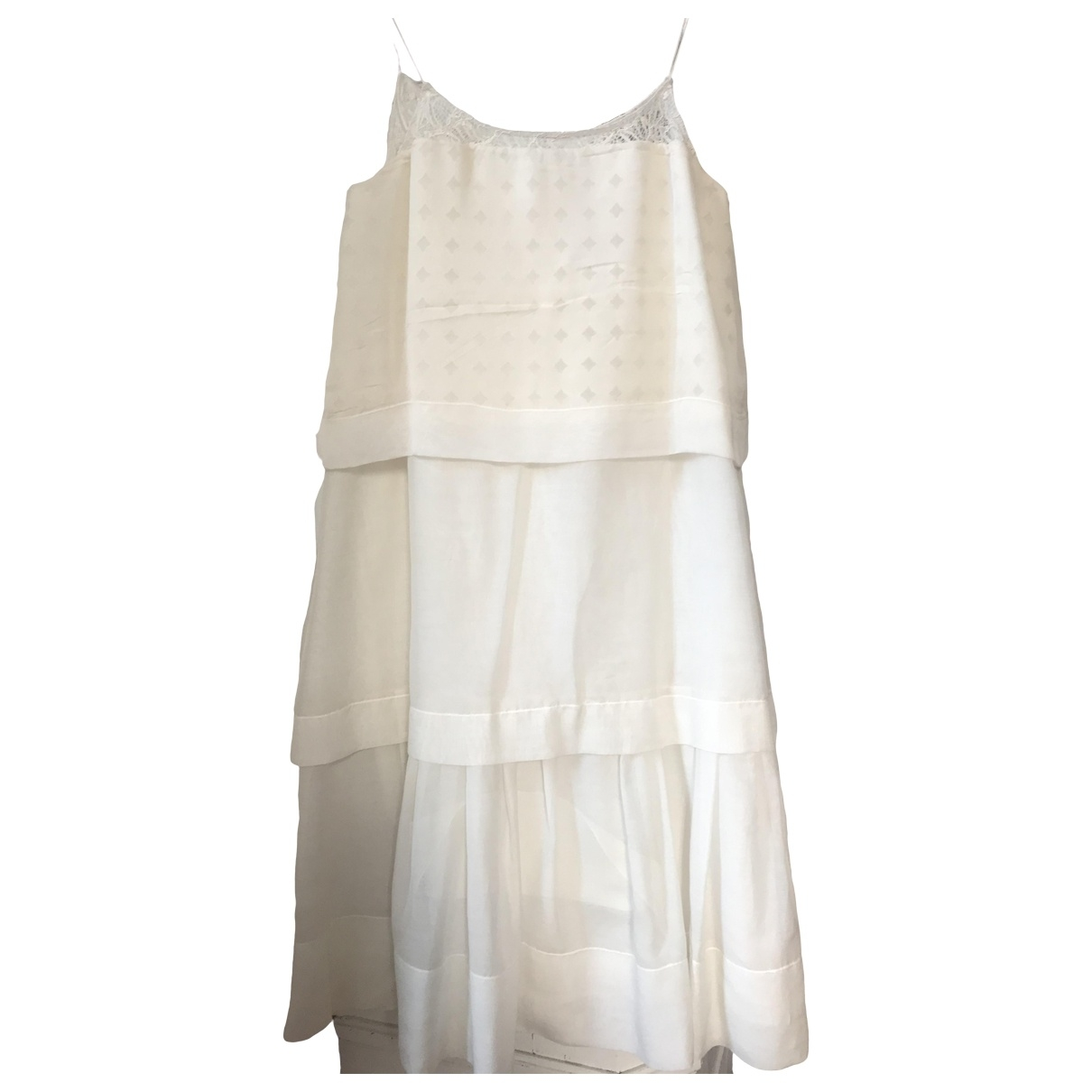 Alessandro Dell'acqua \N White Silk dress for Women 40 IT
