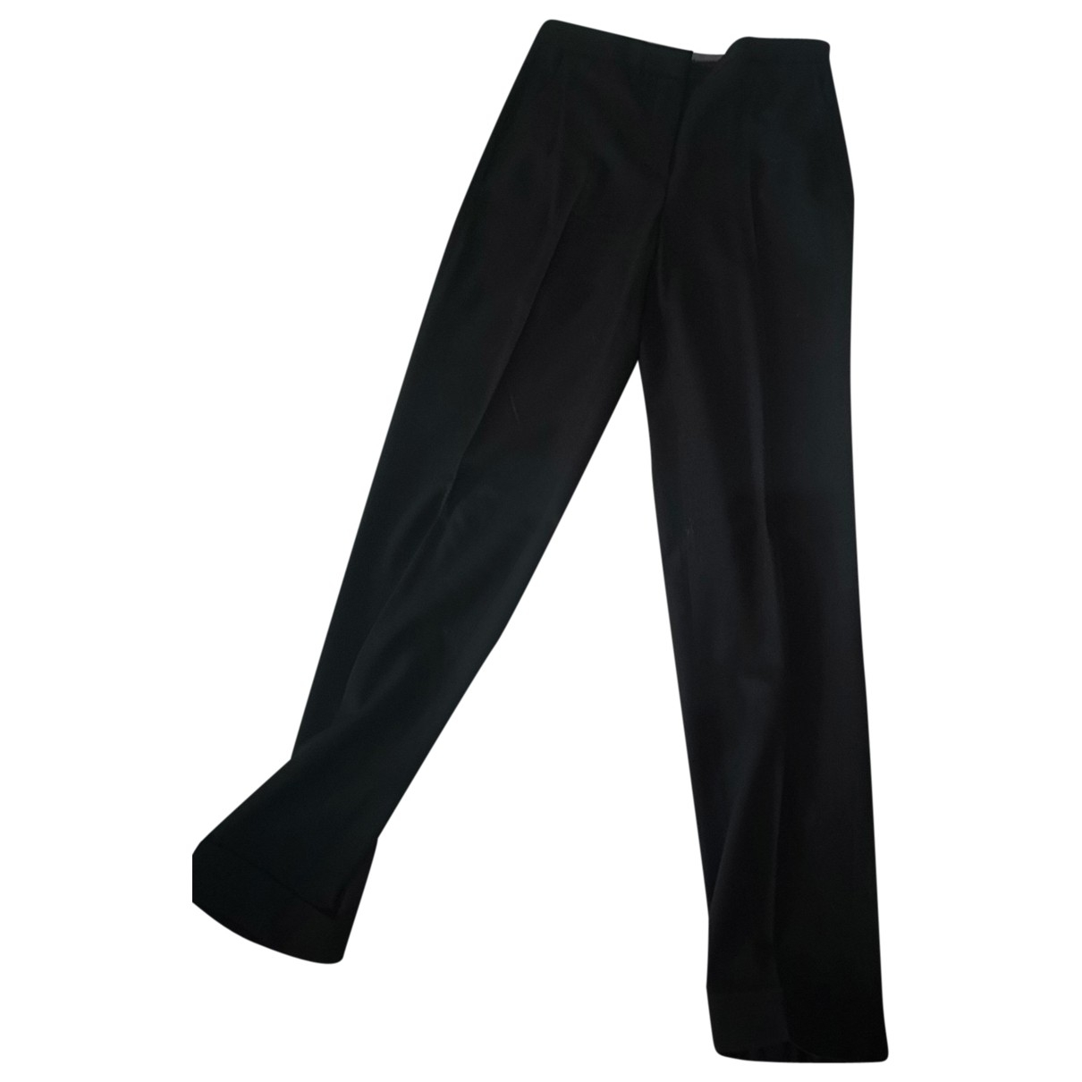Massimo Dutti \N Black Wool Trousers for Women 36 IT