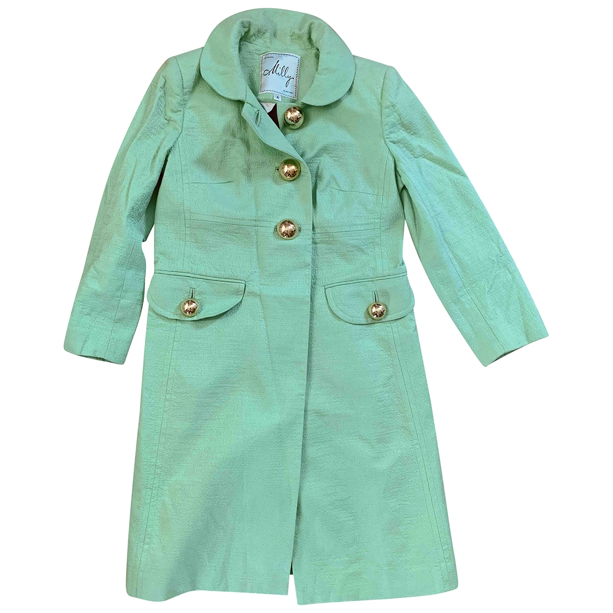 Milly \N Green Cotton coat for Women 4 US