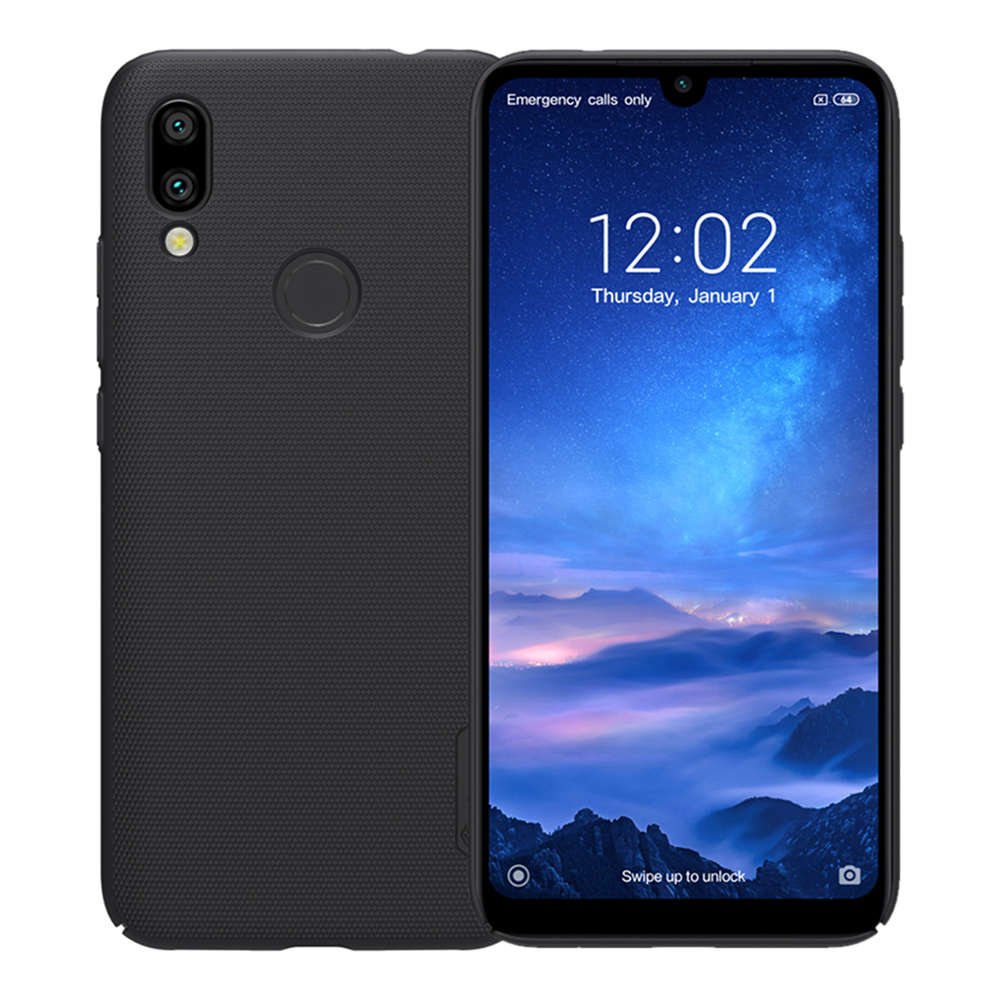 NILLKIN Hard Phone Case For Xiaomi Redmi 7 Protective Back Cover - Black