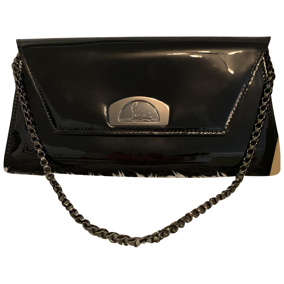 Christian Louboutin \N Black Patent leather Clutch bag for Women \N