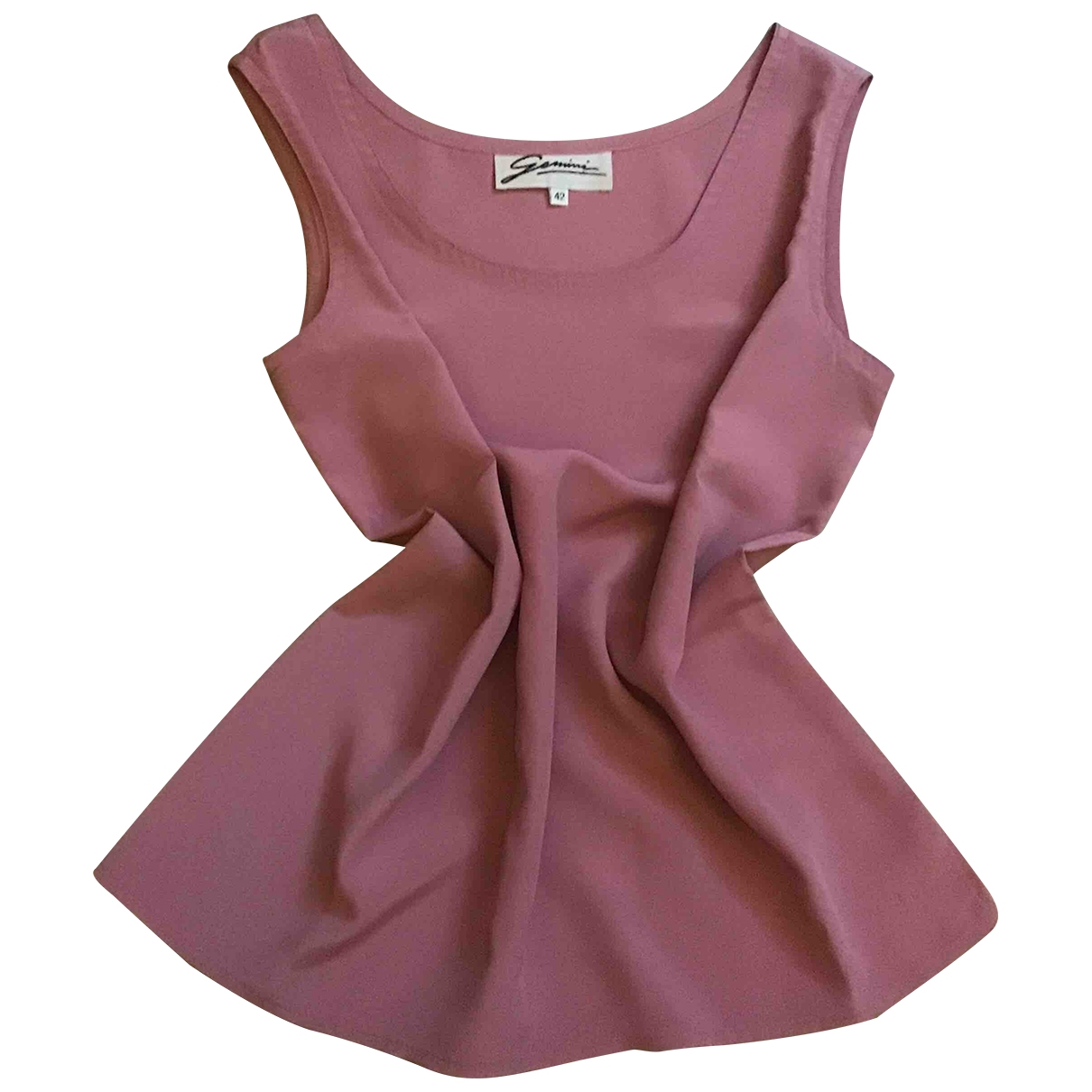 Non Signé / Unsigned \N Pink Silk  top for Women 42 IT