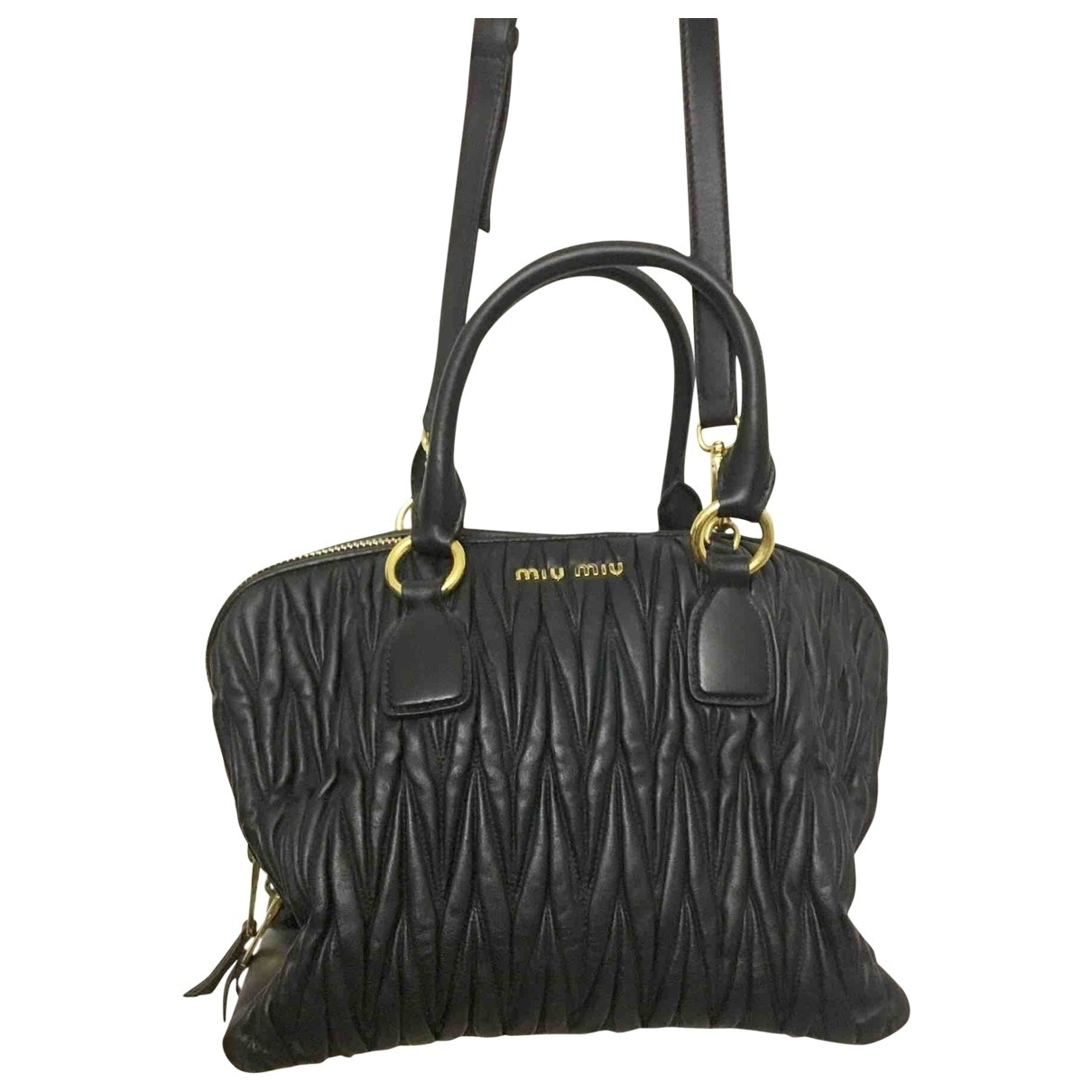 Miu Miu Matelass?? Black Leather handbag for Women \N