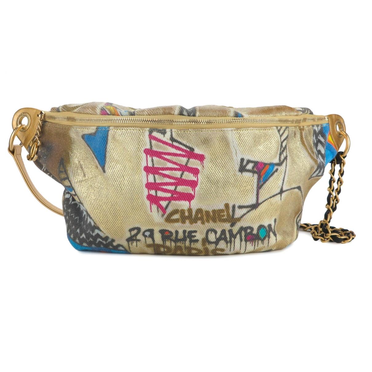 Chanel Graffiti Gold Cloth handbag for Women \N