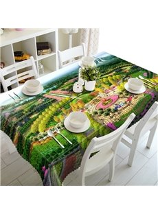 Delicate Forest Park Prints Dining Room Decoration 3D Tablecloth