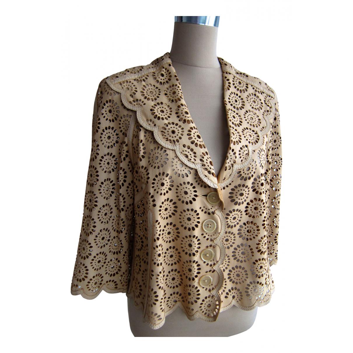 Catherine Malandrino \N Beige Leather jacket for Women 42 FR