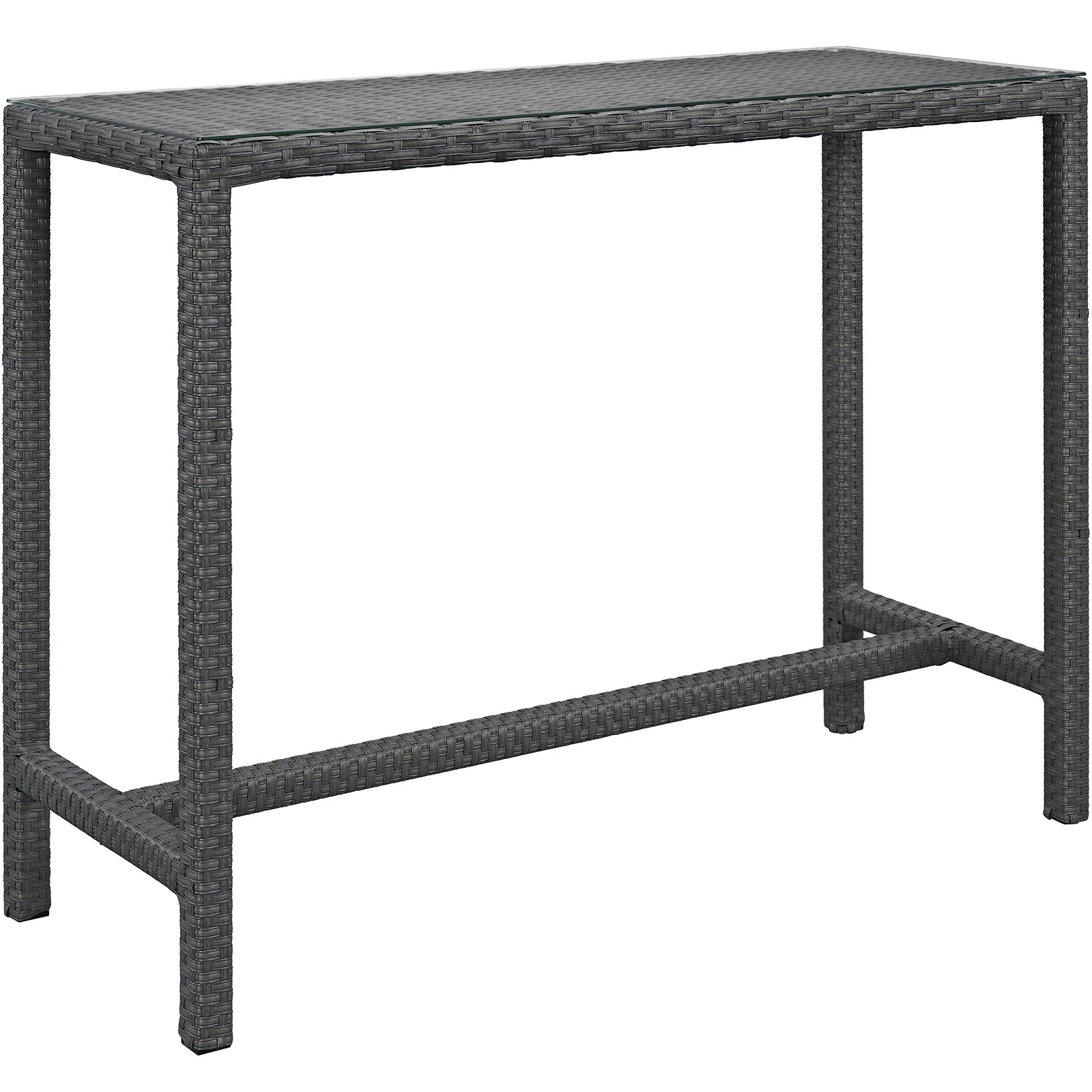 Sojourn Large Outdoor Patio Bar Table in Chocolate