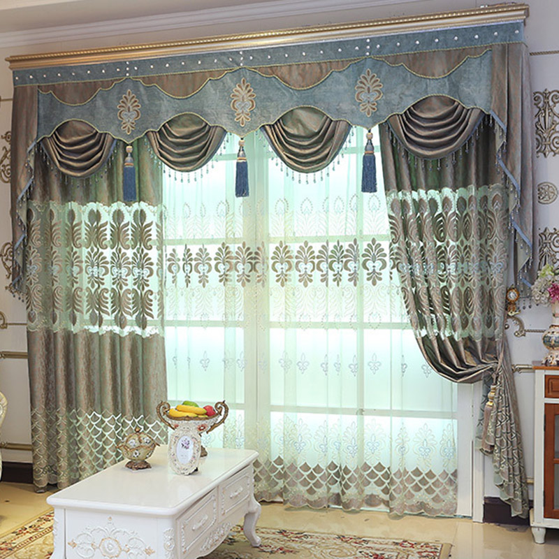 Custom 2 Panels Floral Embroidered Breathable Sheer Curtains for Living Room No Pilling No Fading No off-lining
