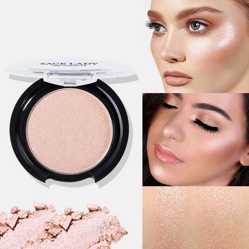 6 Colors Blusher Powder Pearlescent Lasting Glow Face Contour Professional Blusher Cosmetic