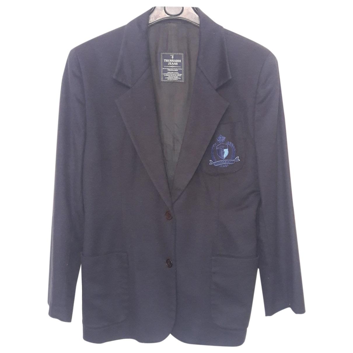 Trussardi Jeans \N Blue Wool jacket for Women 44 IT