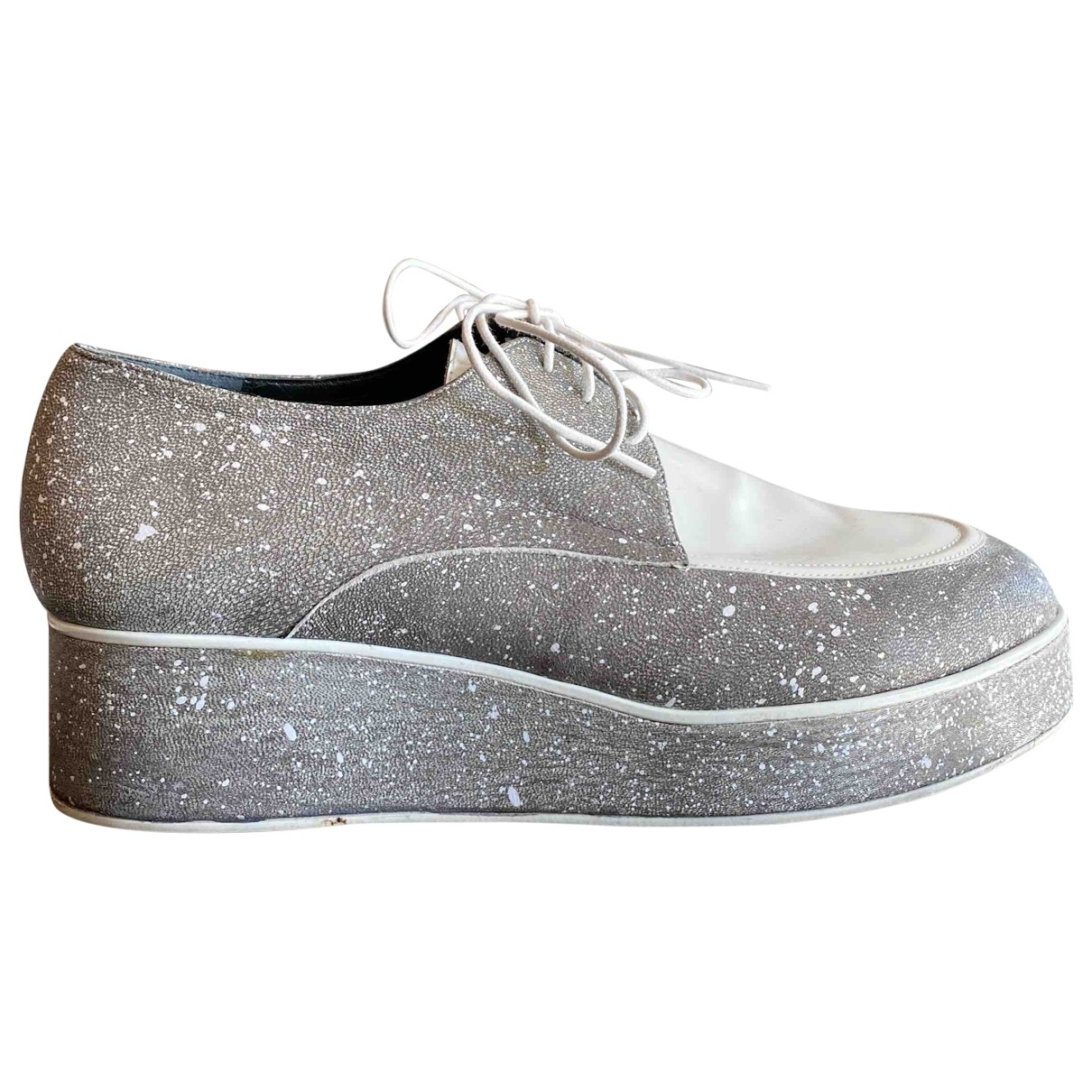 Amélie Pichard \N Grey Leather Lace ups for Women 39.5 EU