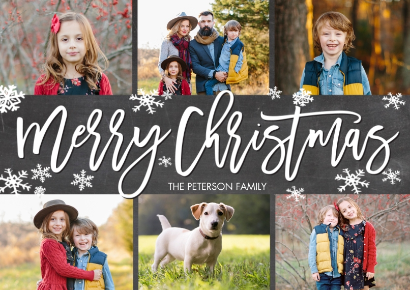 Christmas Photo Cards 5x7 Cards, Standard Cardstock 85lb, Card & Stationery -Christmas Filmstrip Photos by Tumbalina