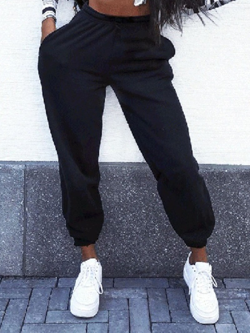 Ericdress Solid Anti-Sweat Cotton Ankle Length Female Pants
