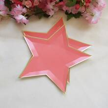 8pcs Star Shaped Disposable Plate