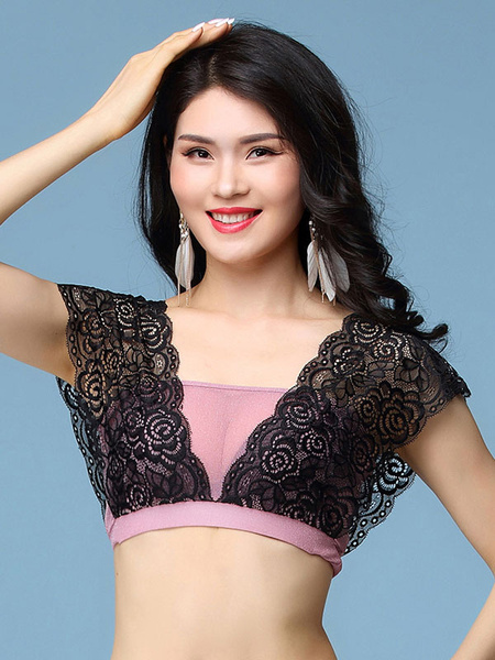Milanoo Belly Dance Costume Top Lace Women Bollywood Dancing Costumes