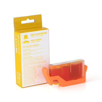 Compatible HP Photosmart 5512 Yellow Ink Cartridge High Yield - Moustache