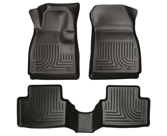 Husky Floor Liners Front & 2nd Row 14-15 Chevy Impala (Footwell Coverage) WeatherBeater-Black