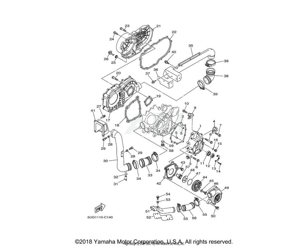Yamaha OEM 5KM-15421-00-00 COVER, CRANKCASE 2