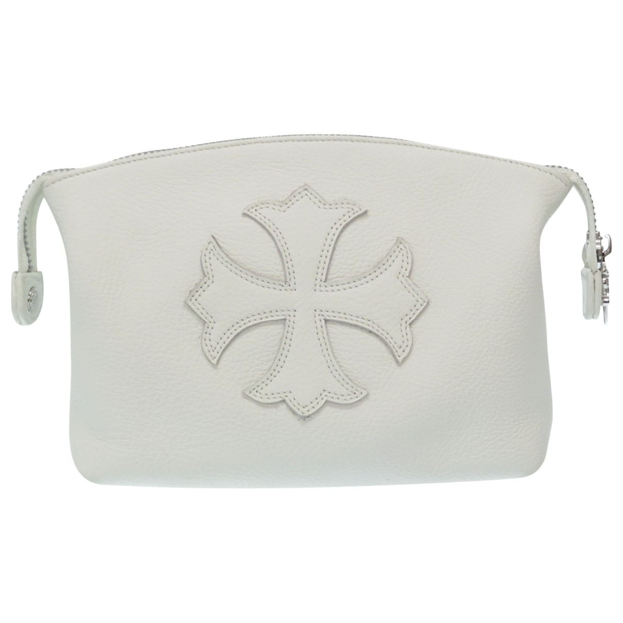 Chrome Hearts \N White Leather Small bag, wallet & cases for Men \N