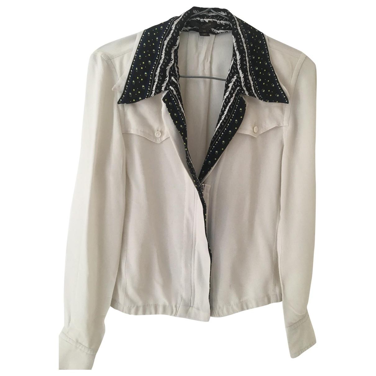 Louis Vuitton \N White Silk  top for Women 36 FR