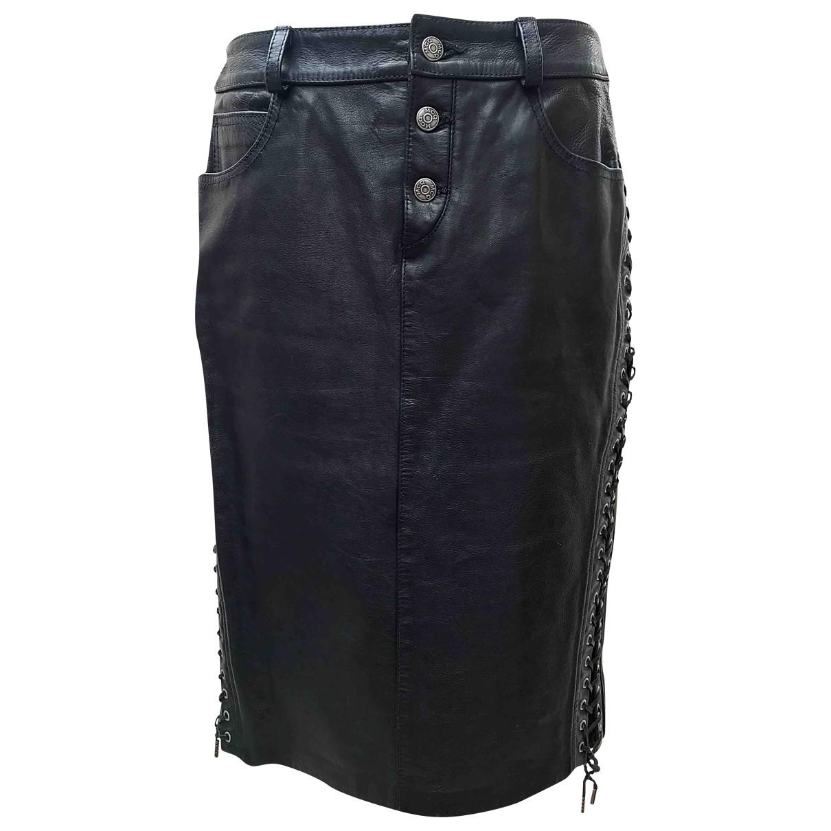 Mcq \N Black Leather skirt for Women 40 IT