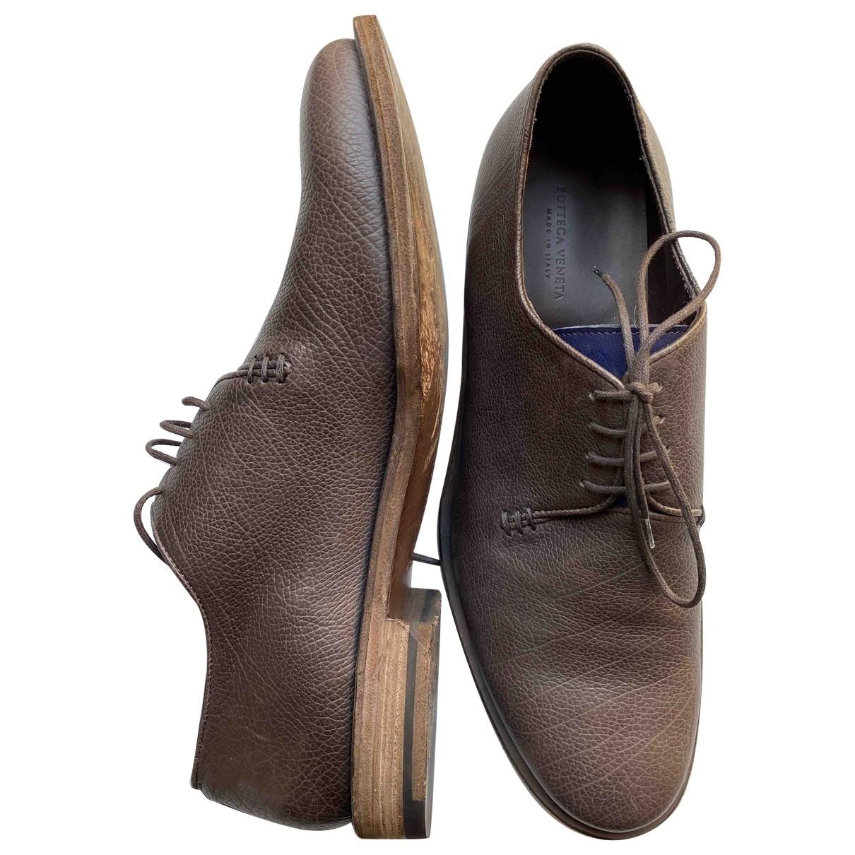 Bottega Veneta \N Brown Leather Lace ups for Men 45 IT
