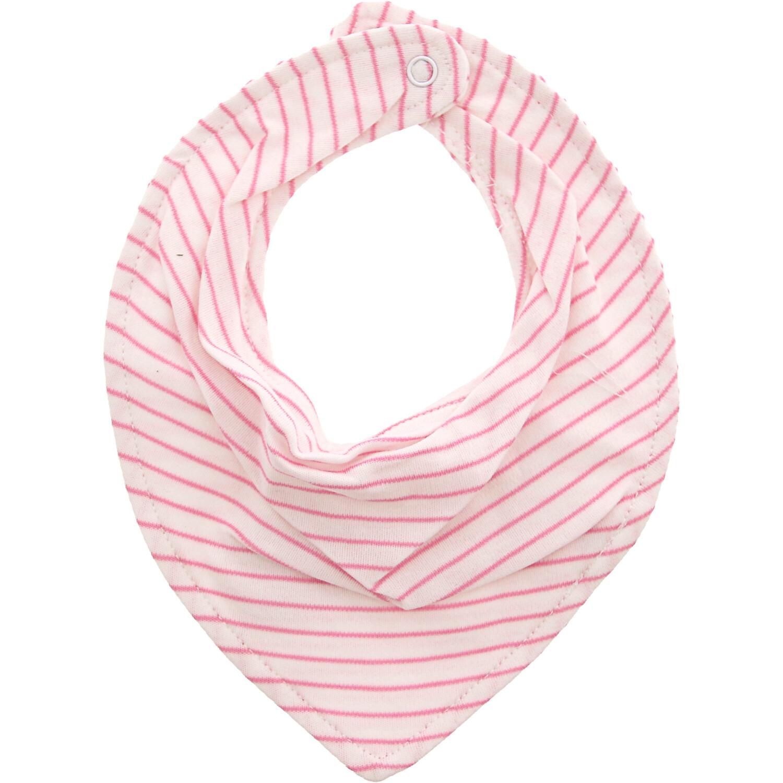Janie And Jack White/ Pink Striped Bandana Bib - One Size