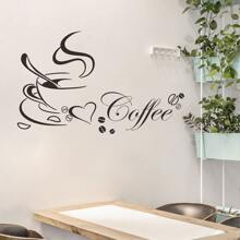 Coffee Print Wall Sticker