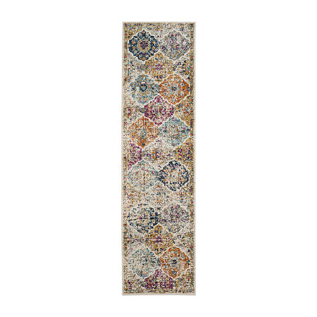 Safavieh Madison Collection Sally Geometric Runner Rug, One Size , Multiple Colors