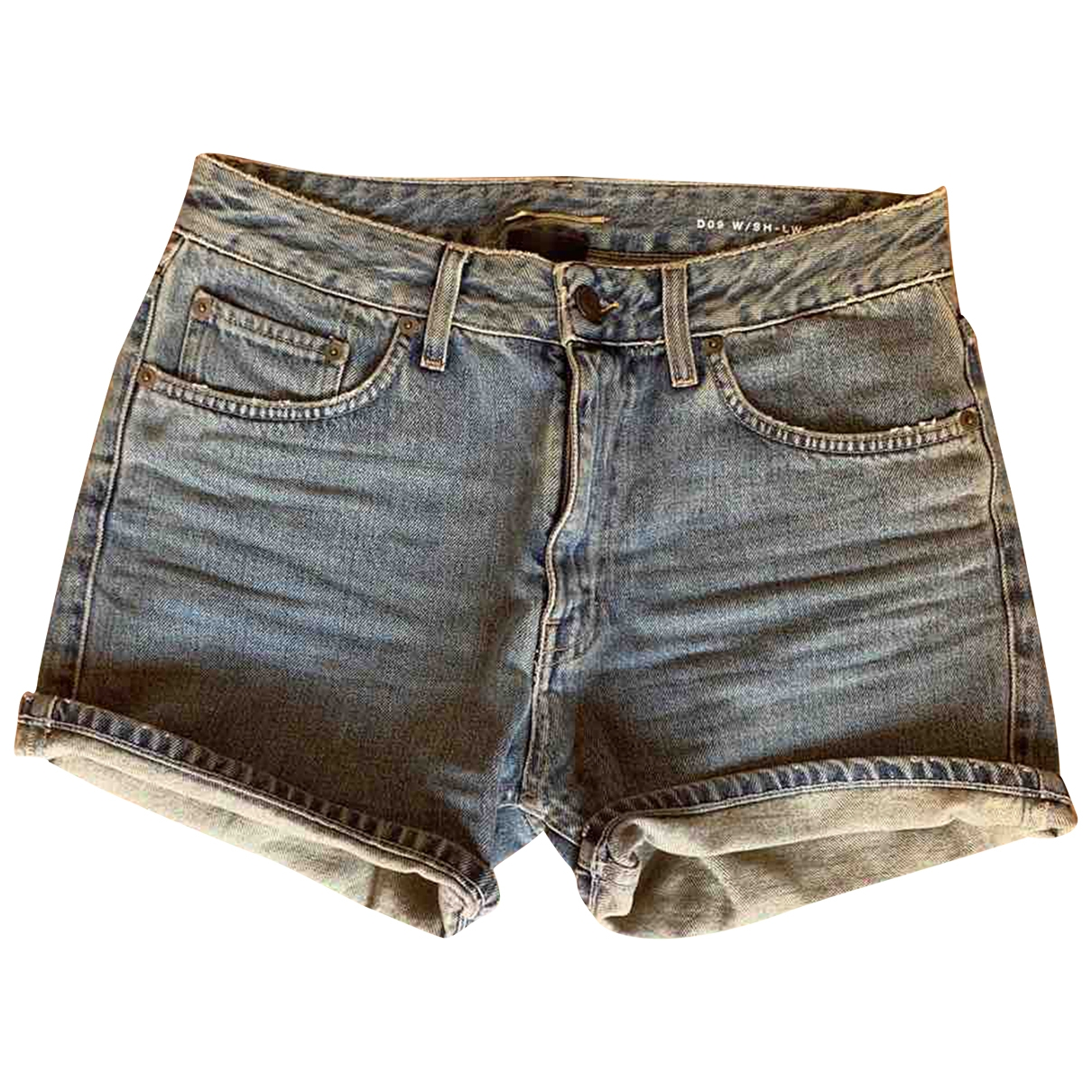 Saint Laurent \N Blue Denim - Jeans Shorts for Women M International