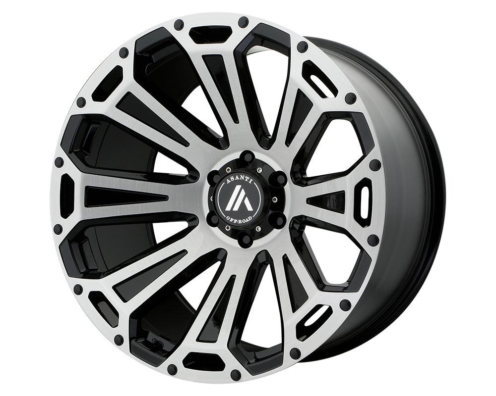 Asanti AB813-221063BB12N Off-Road AB813 Cleaver Wheel 22x10 6x6x135 -12mm Black-Brushed