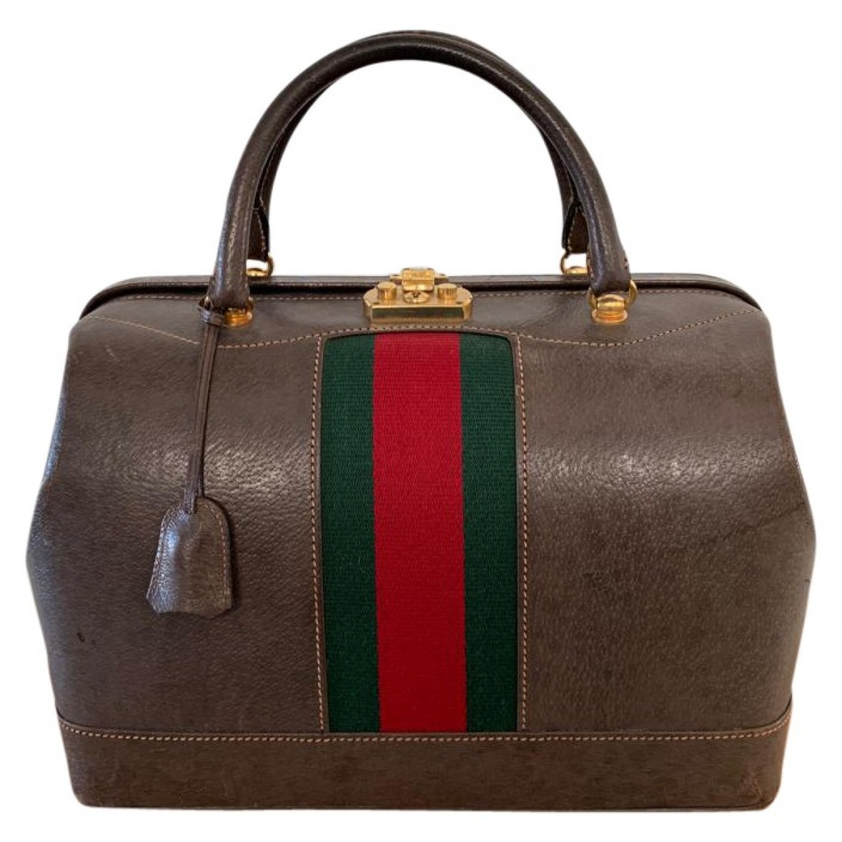 Gucci \N Khaki Leather Travel bag for Women \N
