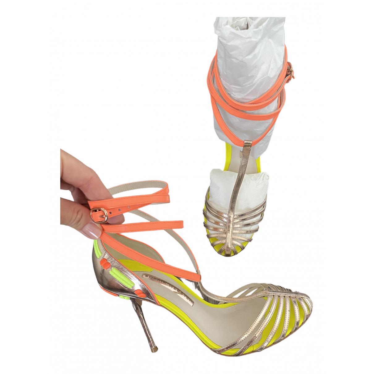 Sophia Webster \N Yellow Leather Heels for Women 39 EU