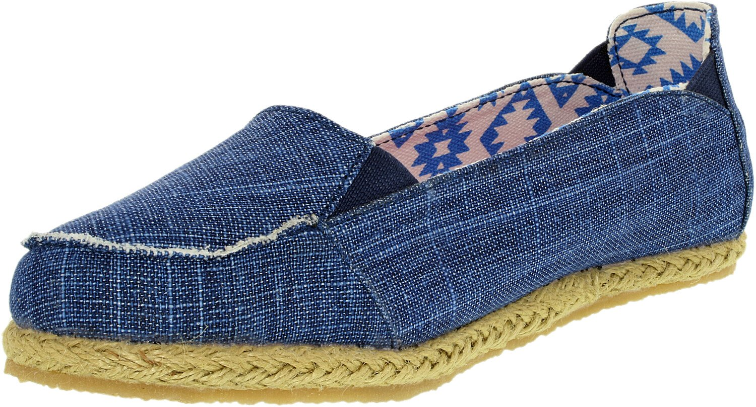 Bearpaw Girl's Heather Canvas Blue Ankle-High Loafers & Slip-On - 3M