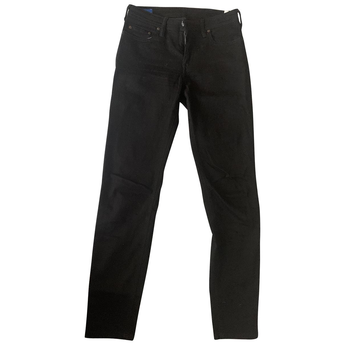 Acne Studios Blå Konst Black Cotton - elasthane Jeans for Women 27 US