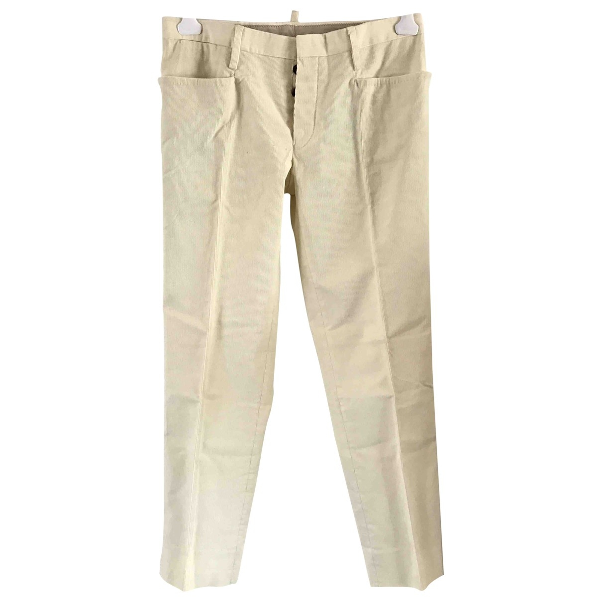 Dsquared2 \N Beige Cotton Trousers for Men 48 IT