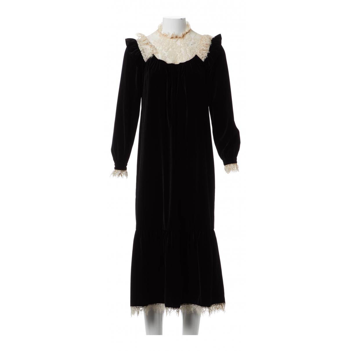 Zimmermann \N Black Velvet dress for Women 0 0-5