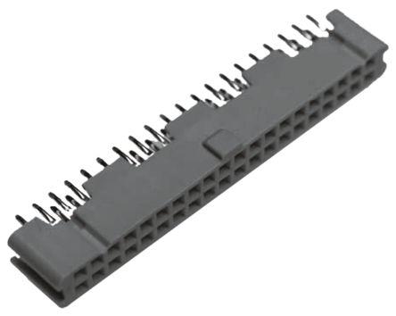 3M , 9100, 9134 2.54mm Pitch 34 Way 2 Row Straight PCB Socket, Through Hole, Solder Termination