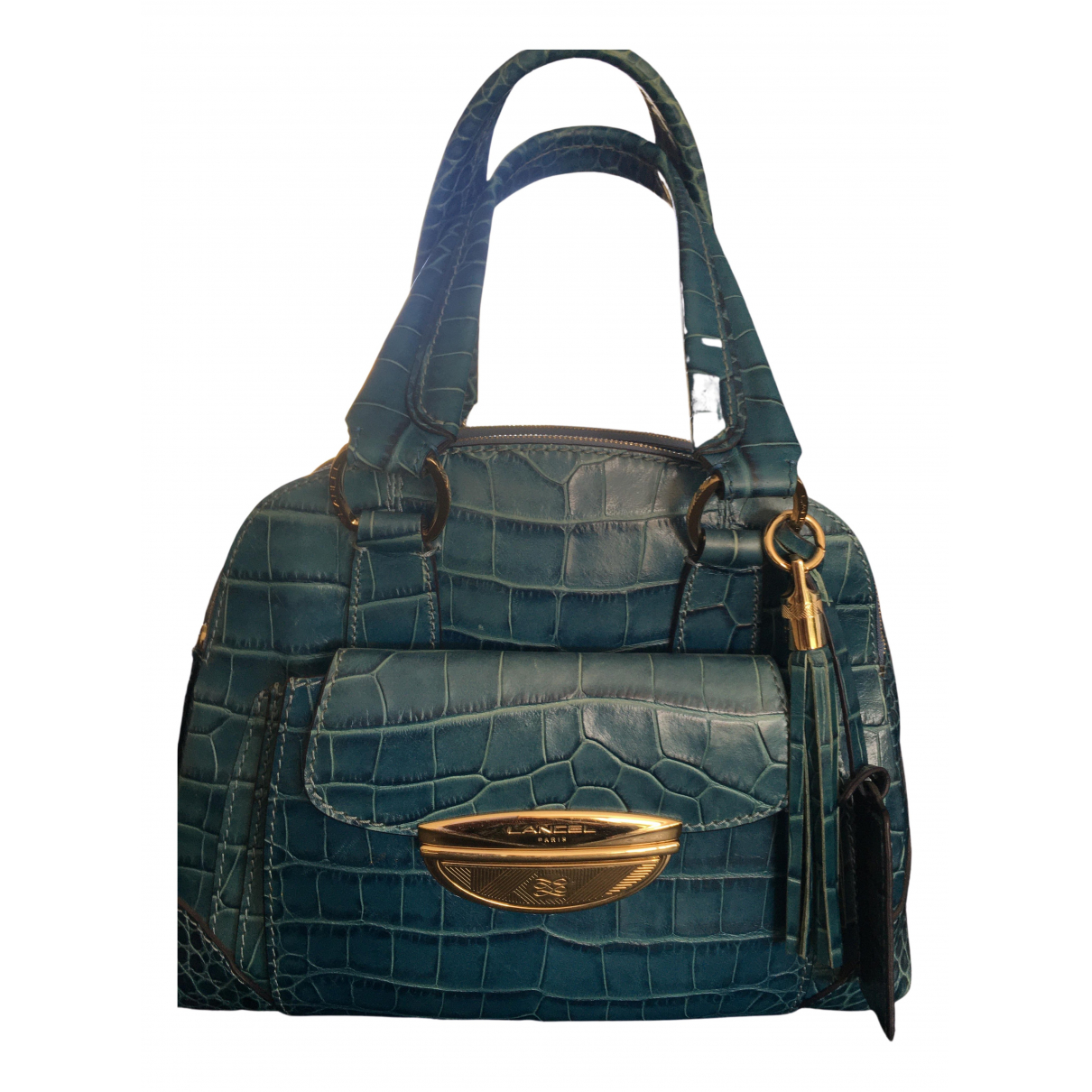 Lancel Adjani Blue Patent leather handbag for Women \N