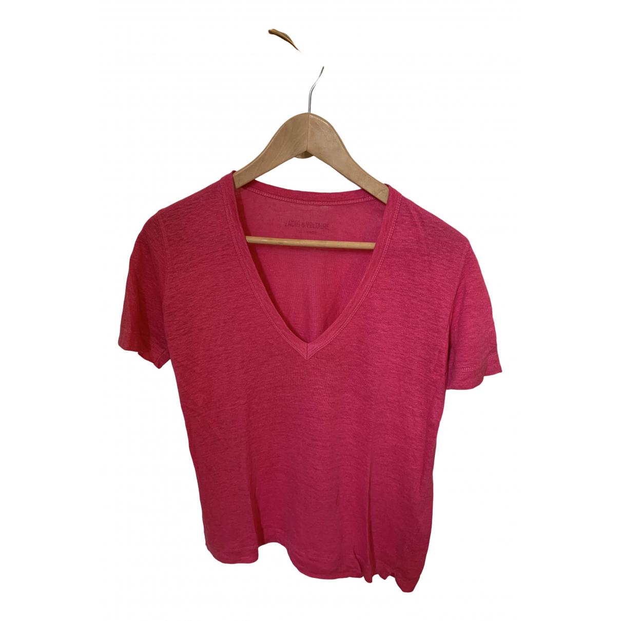 Zadig & Voltaire \N Pink Linen  top for Women M International